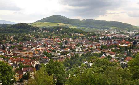 freiburg: Panoramic view of Freiburg im Breisgau. Germany