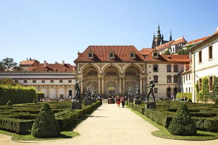 statuary garden: Wallenstein Palace in Prague. Czech Republic