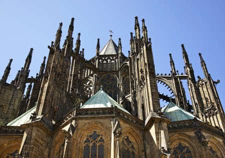 vitus: St Vitus cathedral in Prague. Czech Republic