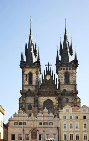 house of god: Church of Mother of God before Tyn in Prague. Czech Republic