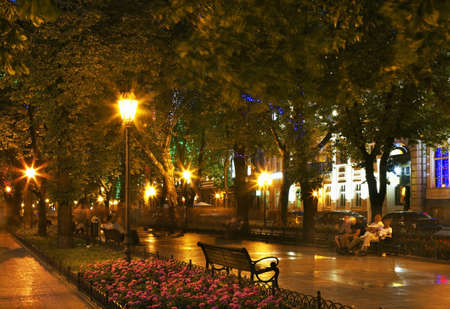 odessa: Primorsky Boulevard - seafront in Odessa. Ukraine