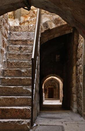 Courtyard in Jerusalem. Israel