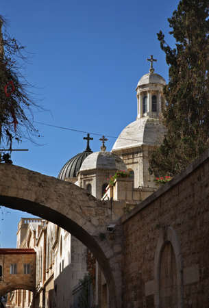 condemnation: Church of Condemnation and Imposition of Cross in Jerusalem. Israel