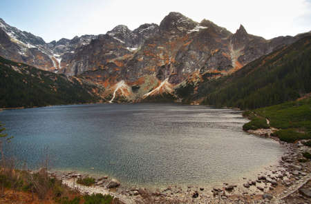 morskie: Sea Eye Morskie Oko lake near Zakopane. Poland