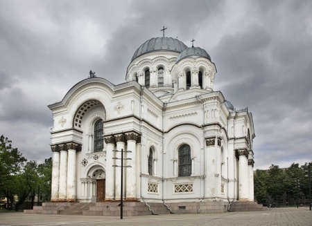 kaunas: Church of St. Michael Archangel in Kaunas. Lithuania Stock Photo