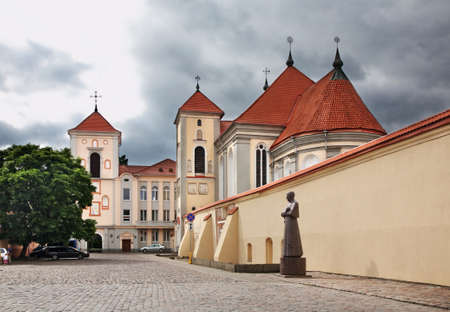 kaunas: Church of St. Trinity in Kaunas. Lithuania Stock Photo
