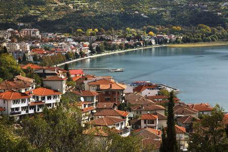 Panoramisch uitzicht van Ohrid. Macedonië