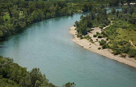 neretva: Neretva river near Pocitelj village. Bosnia and Herzegovina