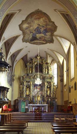 john the baptist: Church of St. John Baptist in Pilzno. Poland Editorial