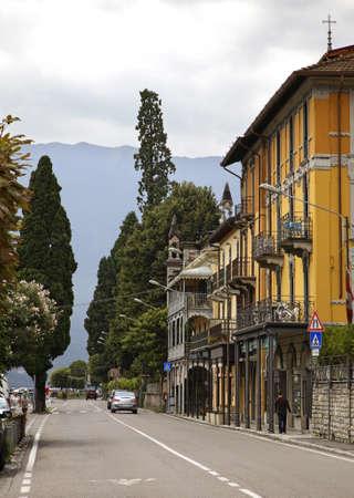 embankment: Embankment in Cadenabbia. Lombardy. Italy Stock Photo