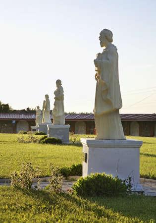 statuary garden: Garden of church of Jude Thaddaeus in Luchaj. Belarus