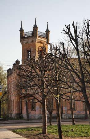 almshouse: Avaevskaya bogodelnya in Tver. Russia Stock Photo