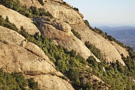 spanish landscapes: Montserrat mountain near Barcelona. Spain Stock Photo