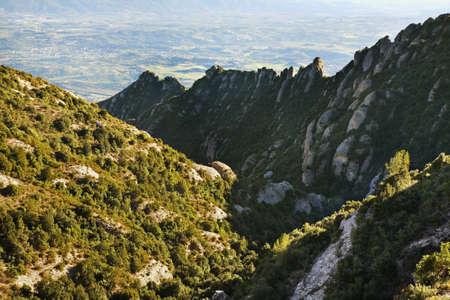 paysage: Montserrat mountain near Barcelona. Spain Stock Photo