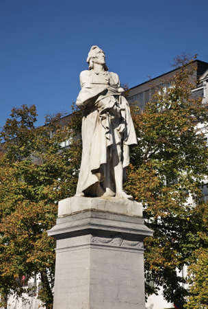 frans: Monument to Frans Anneessens in Brussels. Belgium