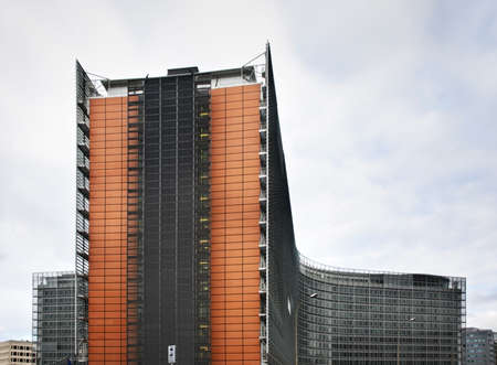 town houses: Building of European Commission in Brussels. Belgium