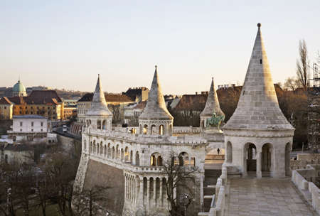 fisherman bastion: Bastion of Fisherman in Budapest. Hungary Editorial