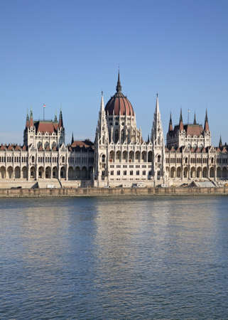 neo gothic: Hungarian Parliament Building in Budapest. Hungary