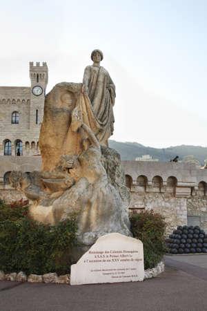 architecture alphabet: Monument to Albert I in Monaco-Ville. Principality of Monaco