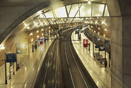 principality: Railway station in Les Moneghetti district. Principality of Monaco