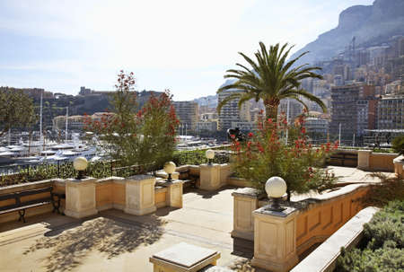 principality: View of La Condamine district. Principality of Monaco Stock Photo