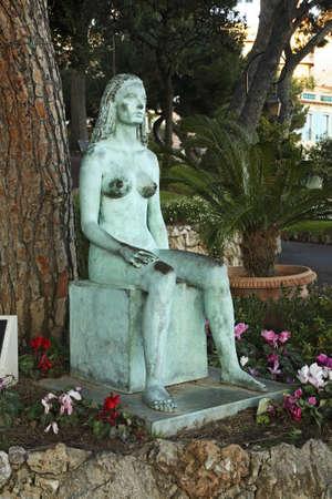 statuary garden: Sculpture in Gardens of St. Martin. Monaco-Ville. Principality of Monaco Stock Photo