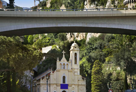 initiation: Church of the Holy Initiation in La Condamine. Principality of Monaco