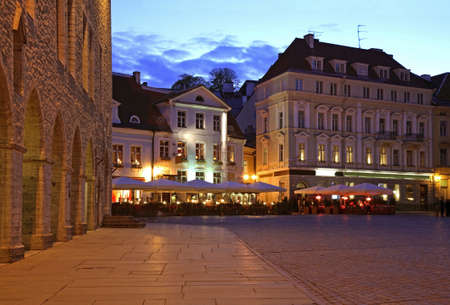townhouse: Townhouse square in Tallinn. Estonia
