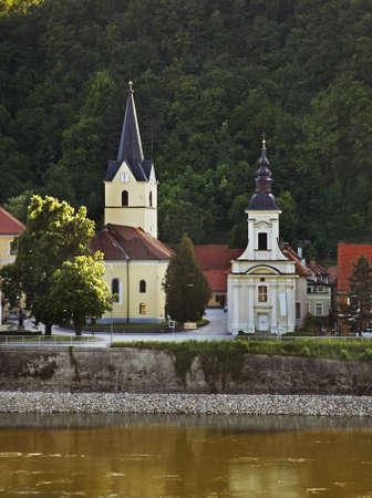 evangelist: Churches of St. John Evangelist and St. Spirit. Krsko. Slovenia