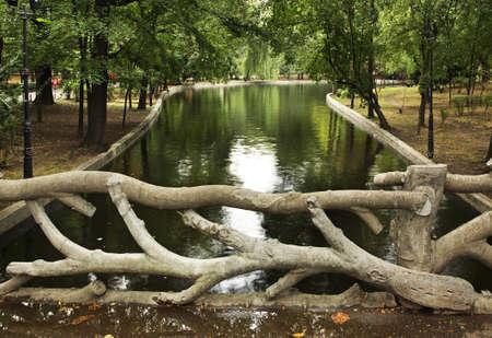 Cismigiu gardens in Bucharest. Romania Stock Photo