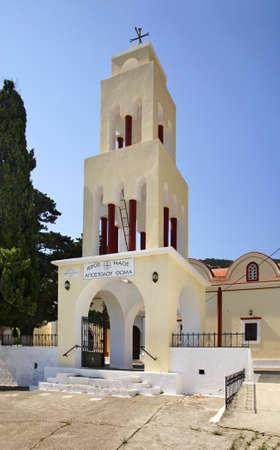 apostle: Church of St. Thomas Apostle in Monolithos village. Rhodes island. Greece Stock Photo
