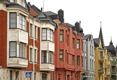 helsinki: Old street in Helsinki. Finland Stock Photo