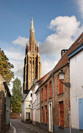the church of our lady: Church of Our Lady in Bruges. Flanders. Belgium