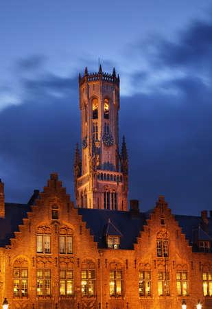 flanders: Belfry in Bruges. Flanders. Belgium
