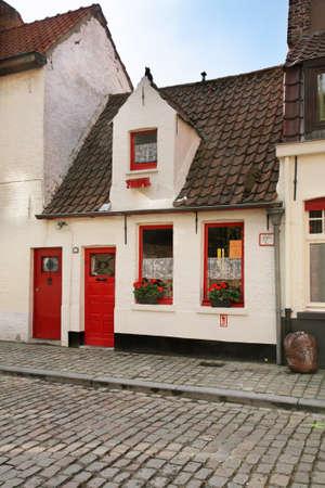 bruges: Old street in Bruges. Flanders. Belgium Editorial