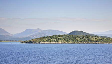 corfu: Mountain near Igoumenitsa and Corfu. Greece