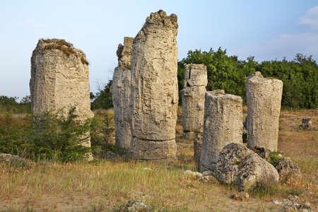paysage: Pobiti Kamani - Stone forest near Varna. Bulgaria