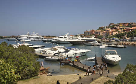 italia: Port in Porto Cervo. Sardegna. Italia