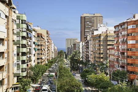 Avenida General Marva in Alicante. Spain