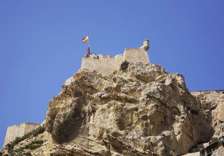 Santa Barbara castle in Alicante. Spain Stock Photo