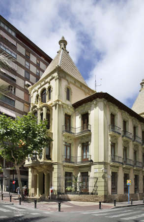 spanish homes: Street in Alicante. Spain Stock Photo