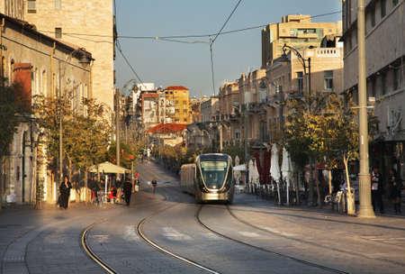 jaffa: Jaffa road in Jerusalem. Israel