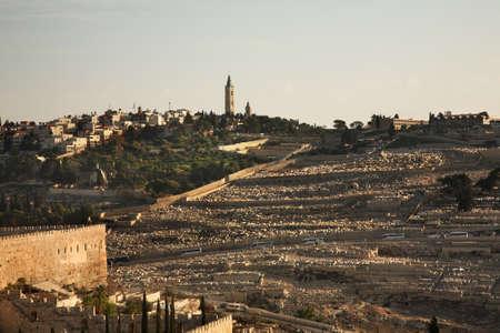 mount of olives: Jewish Cemetery on Mount of Olives in Jerusalem. Israel