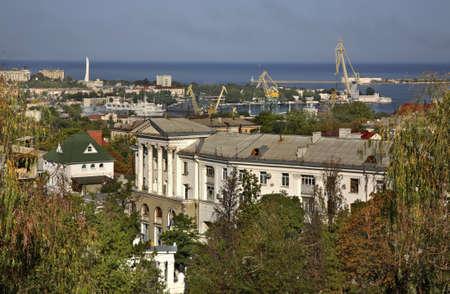 seaboard: View of Sevastopol. Ukraine Stock Photo