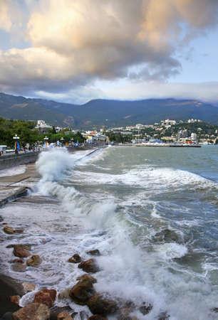 embankment: Embankment in Yalta. Ukraine