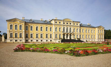 Rundale Palace near Pilsrundale. Latvia Editorial