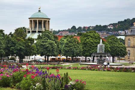 Schlossplatz in Stuttgart. Germany Standard-Bild