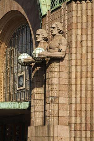 helsinki: Helsinki Central railway station. Finland