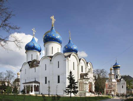 lavra: Assumption Cathedral Trinity Lavra in Sergiyev Posad. Russia