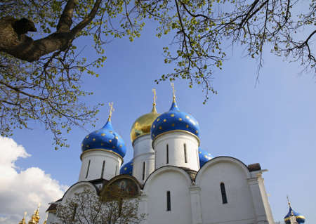 assumption: Assumption Cathedral in Trinity Lavra in Sergiyev Posad. Russia Stock Photo